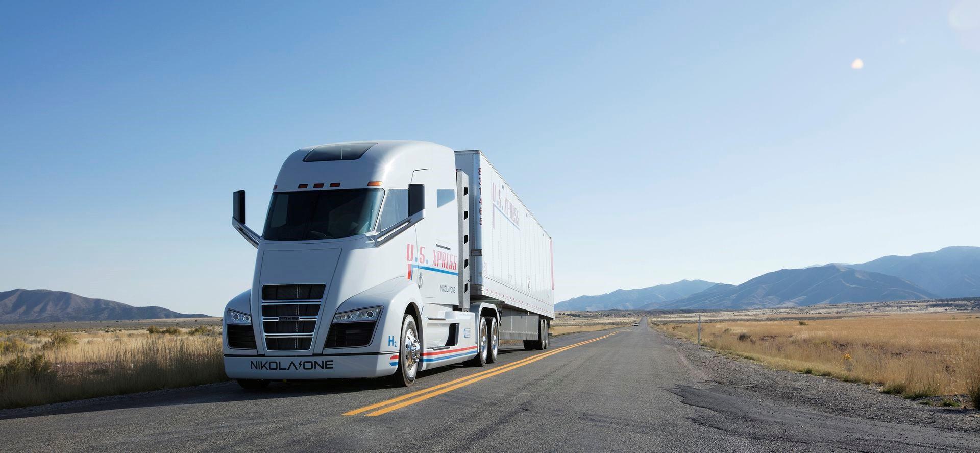 Nikola hybrid truck 2k foto