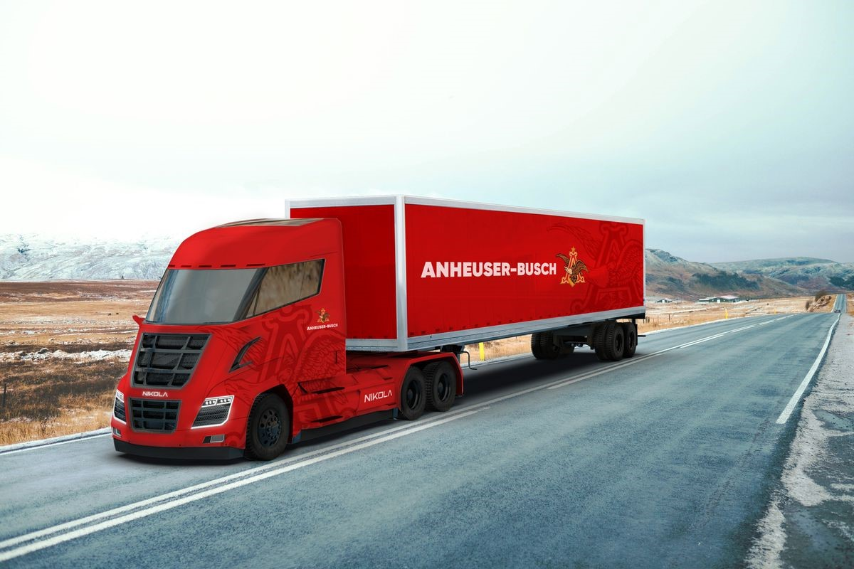 Nikola hybrid truck hd duvar kağıtları