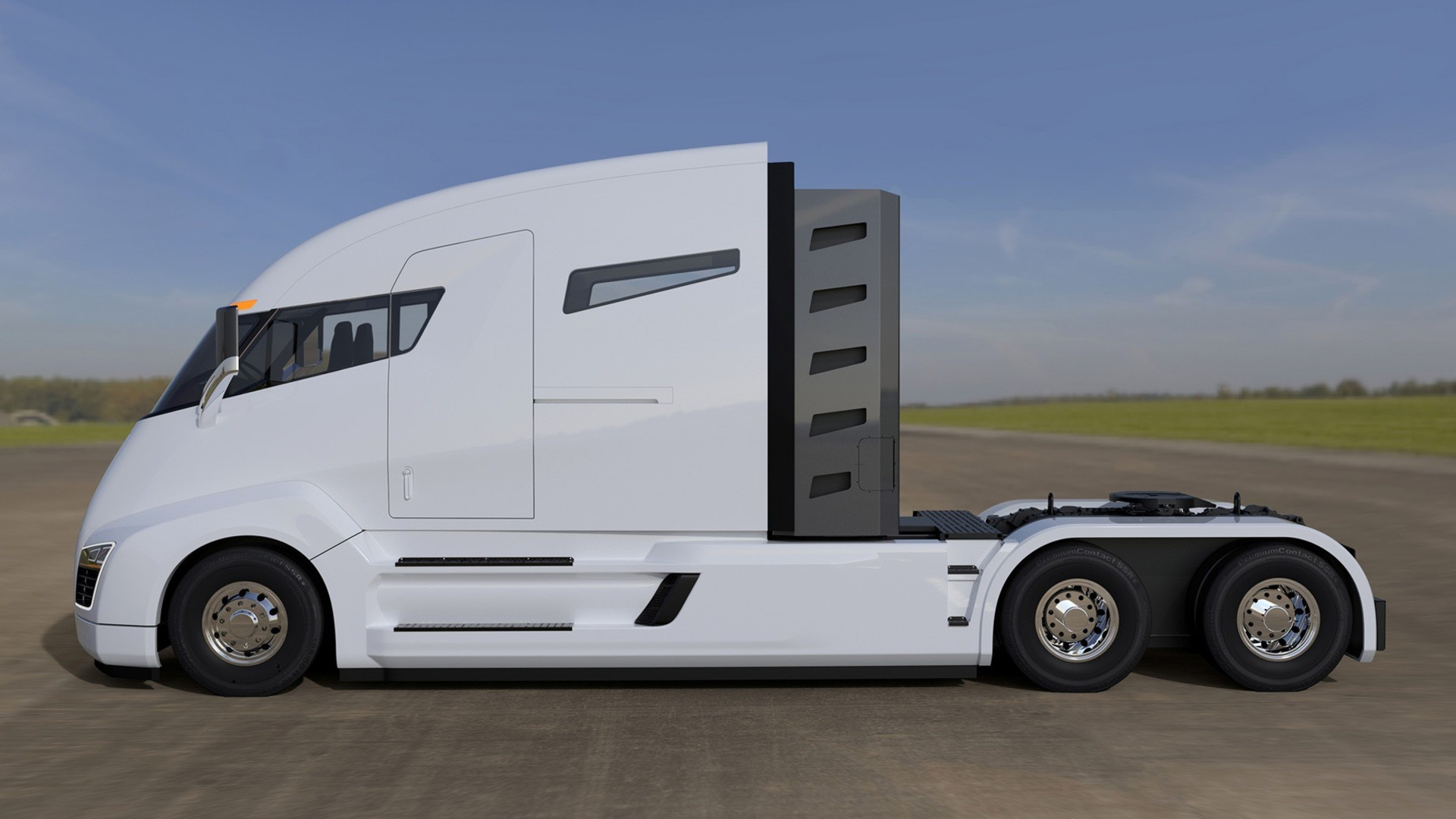 Nikola hybrid truck hd fotoğrafı