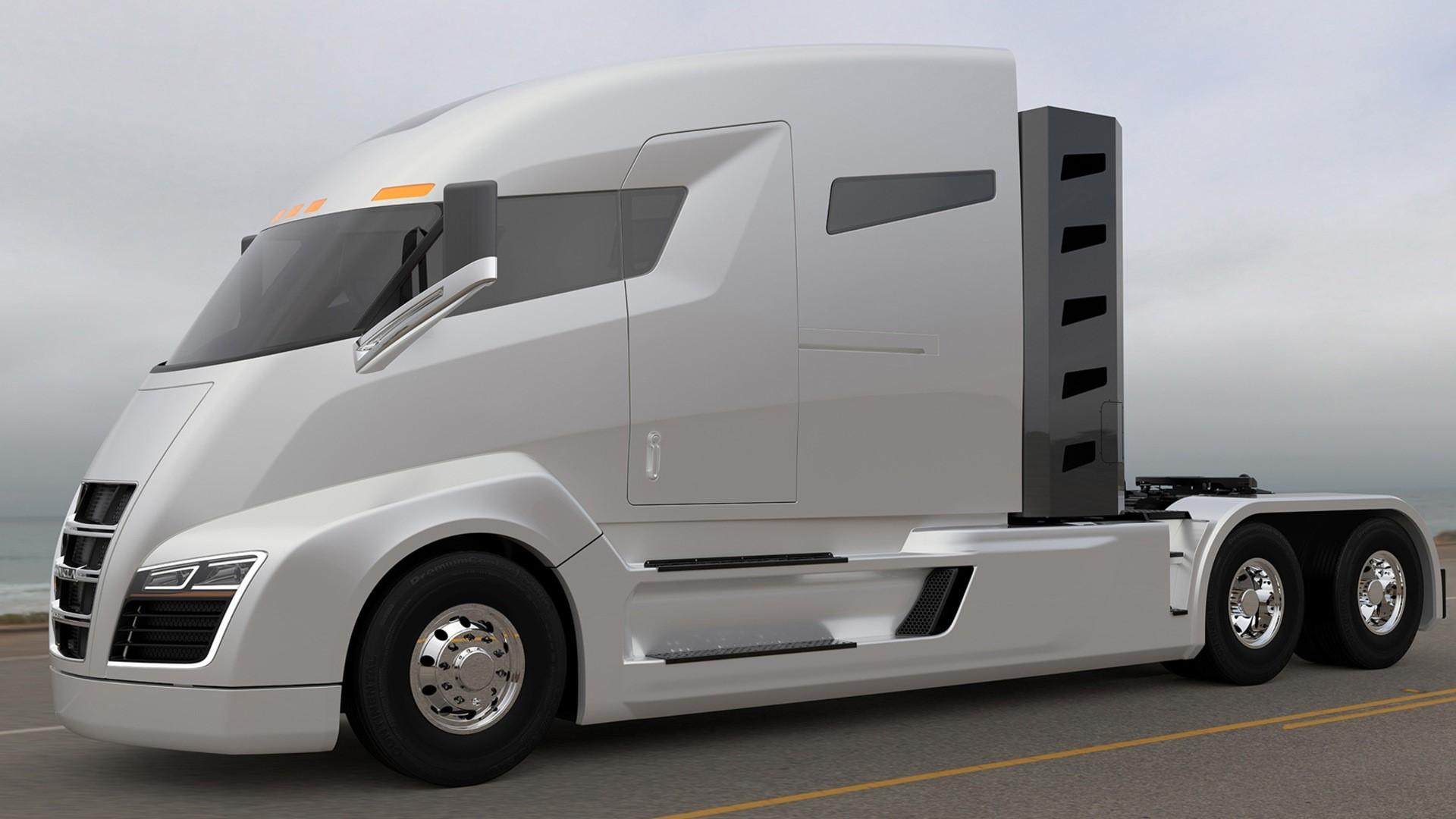 Nikola hybrid truck hd resmi