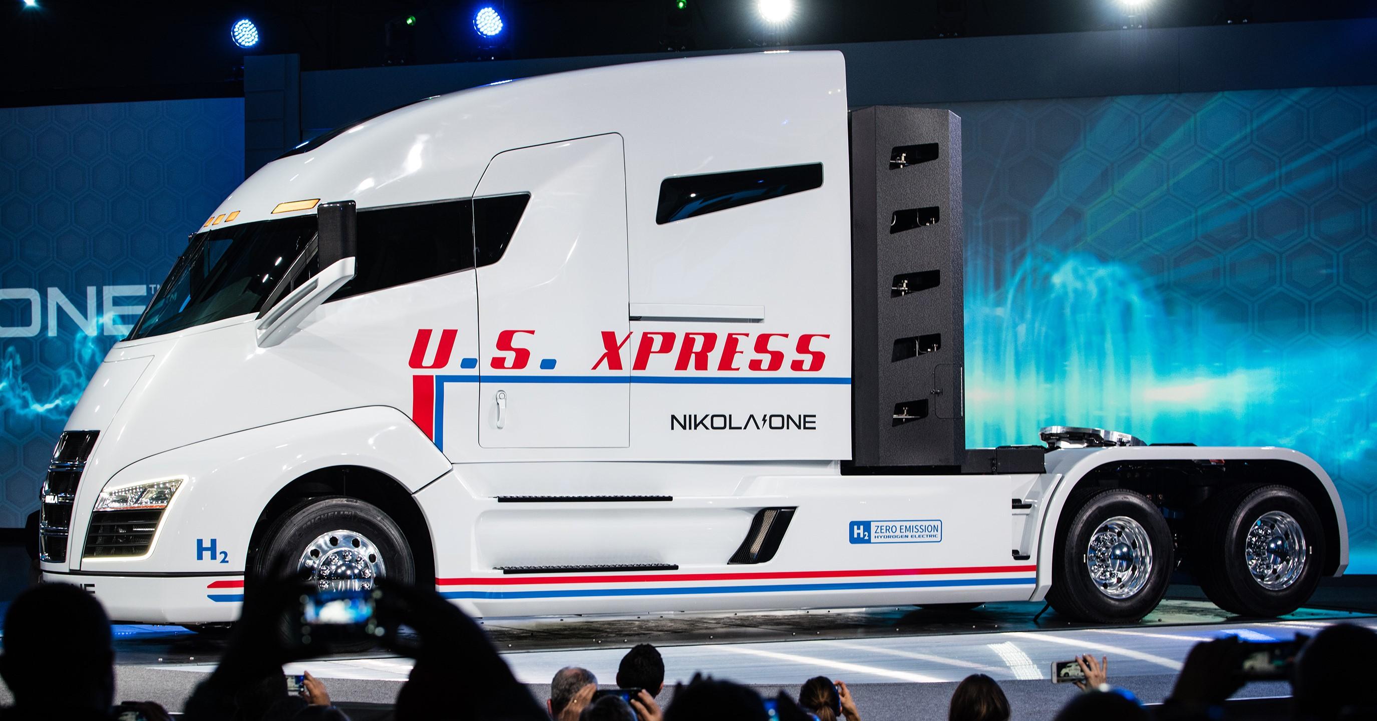 Nikola hybrid truck hd wallpaper