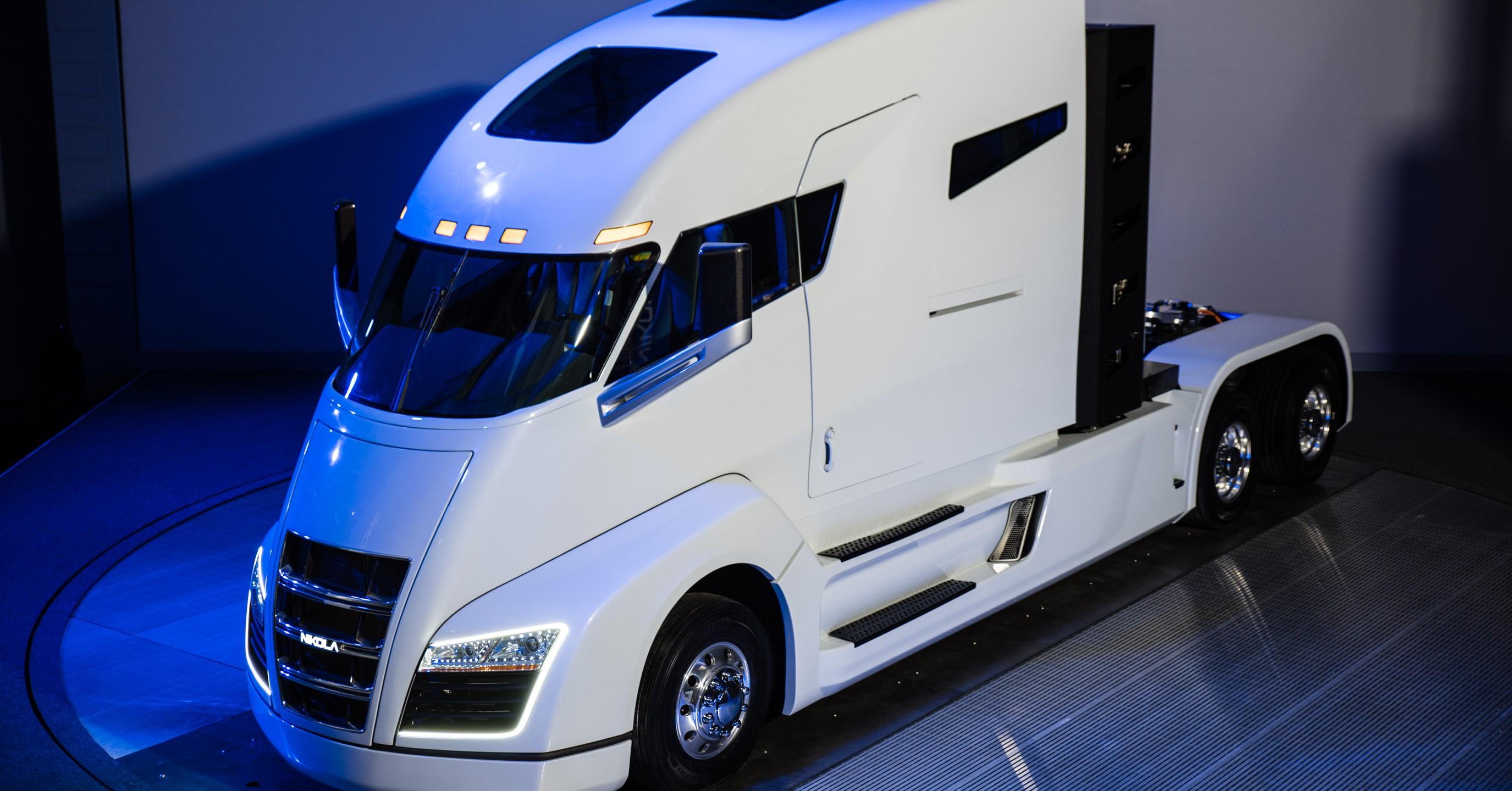 Nikola hybrid truck uhd wallpapers