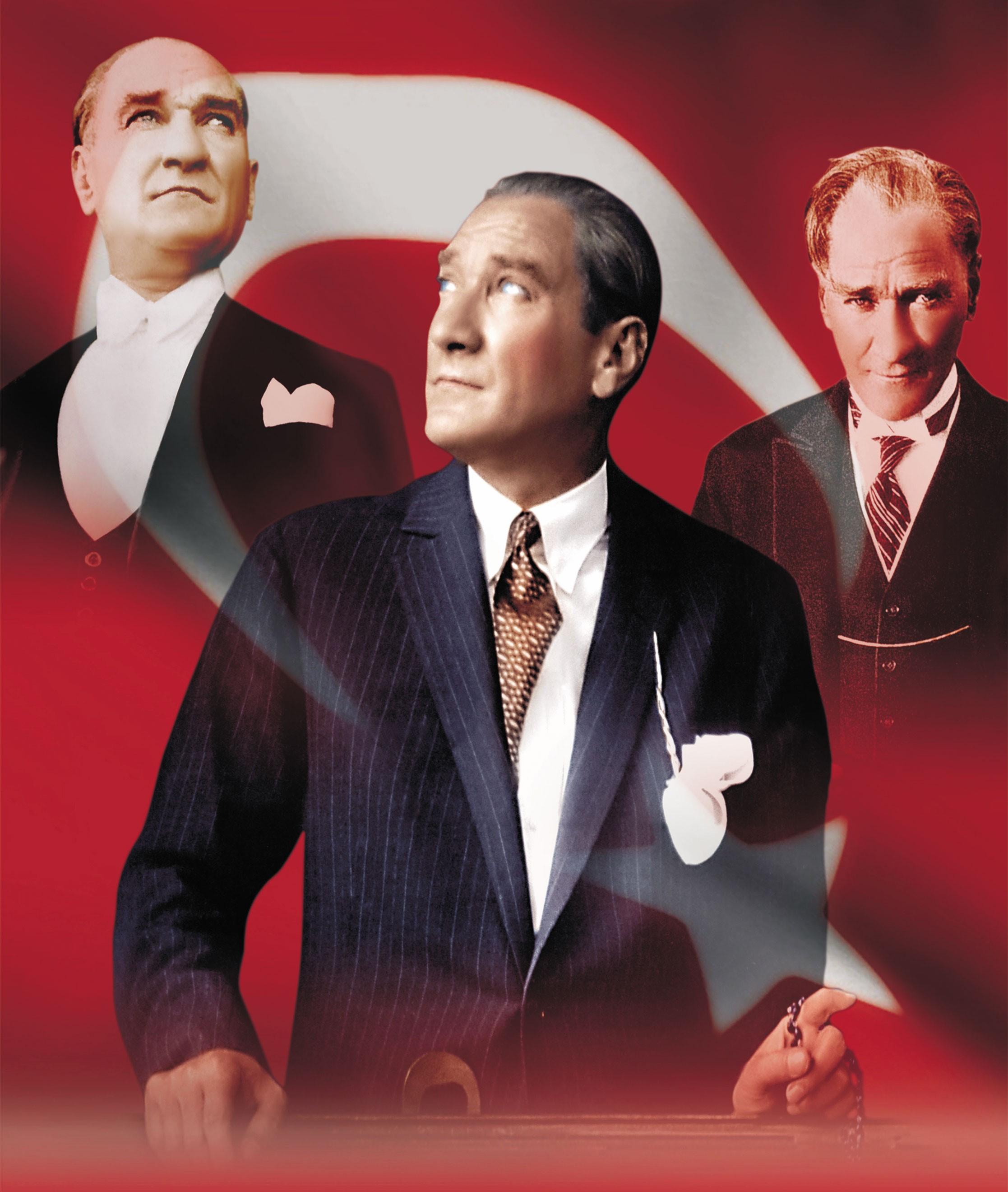 Türk Bayrağı Atatürk Resimleri