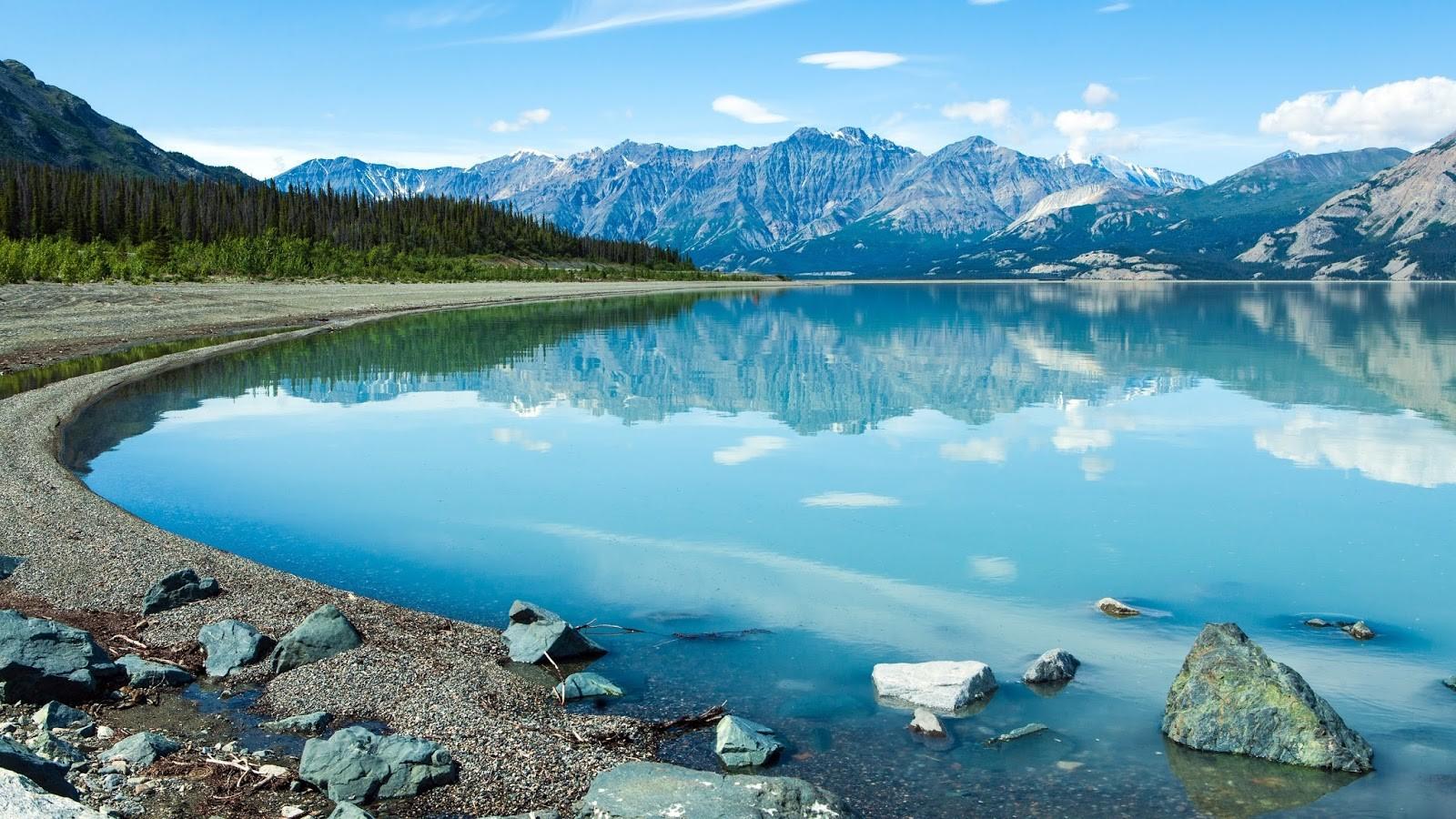 Canada Kluane Lake Wallpaper