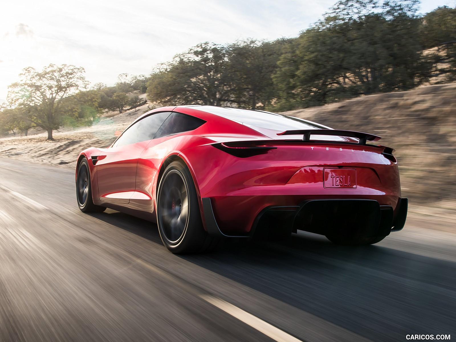 Tesla Roadster duvarkağıdı