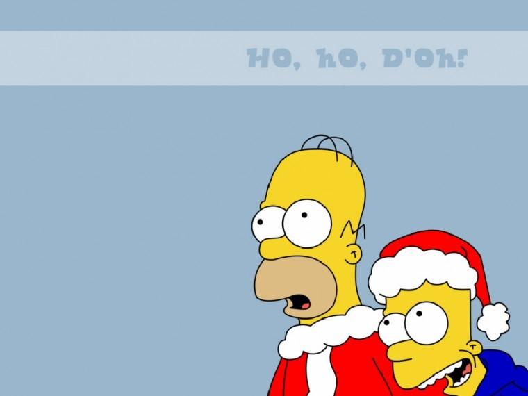 The Simpsons Yılbaşı 10k duvarkağıdı