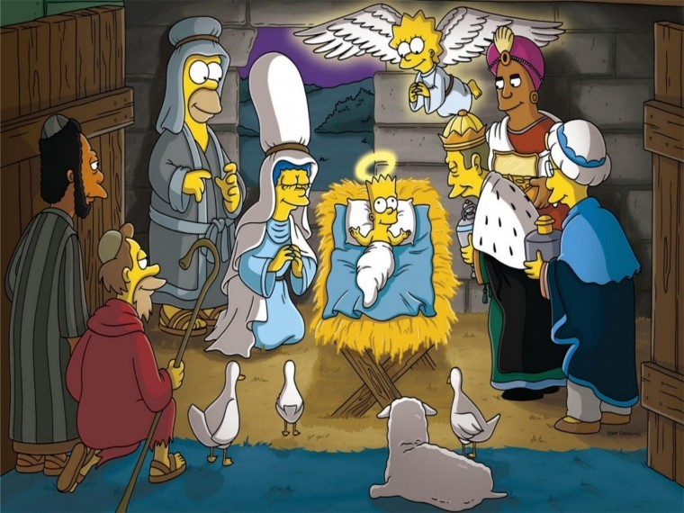 The Simpsons Yılbaşı 8k duvarkağıdı