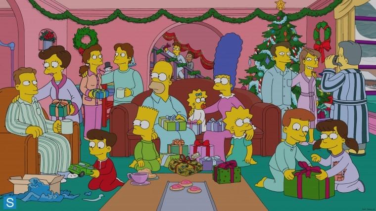 The Simpsons Yılbaşı duvar kağıdı