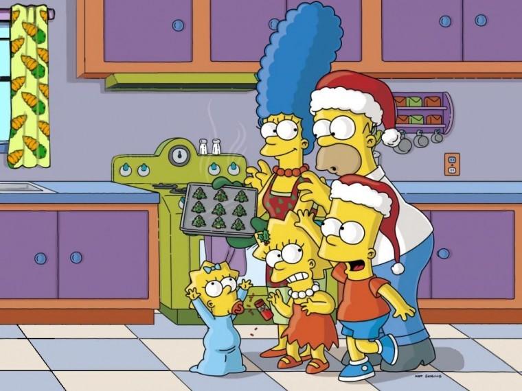 The Simpsons Yılbaşı duvarkağıdı