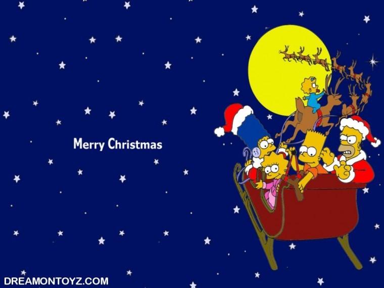 The Simpsons Yılbaşı fotoğraf