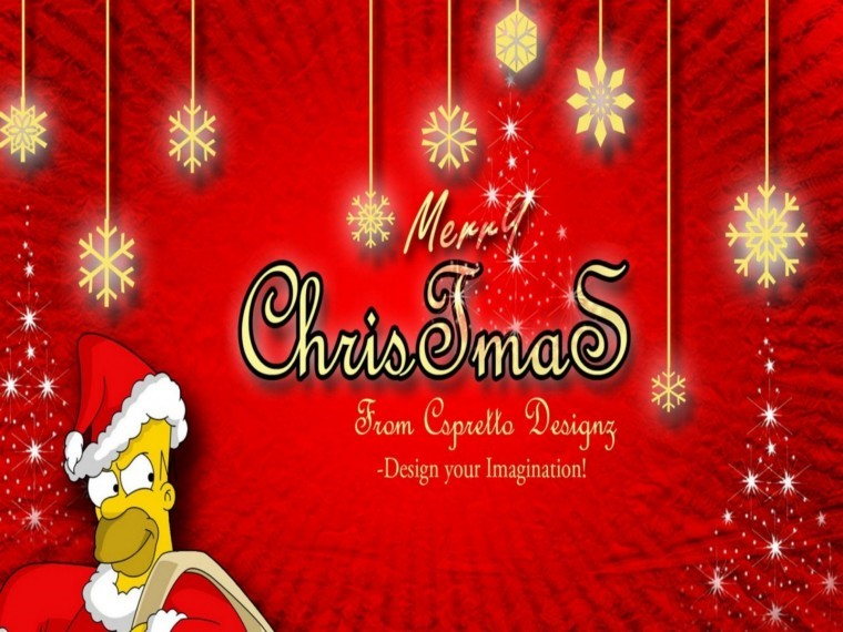 The Simpsons Yılbaşı hd duvarkağıdı