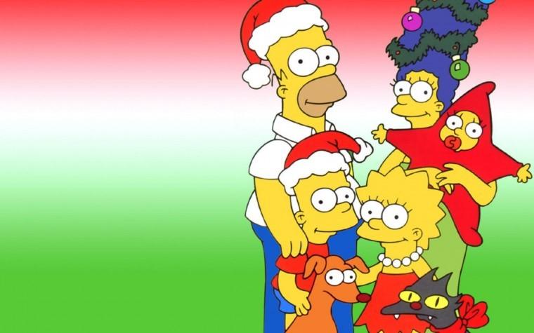 The Simpsons Yılbaşı resimleri
