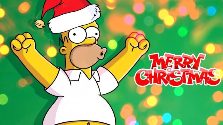 The Simpsons Yılbaşı wallpaper