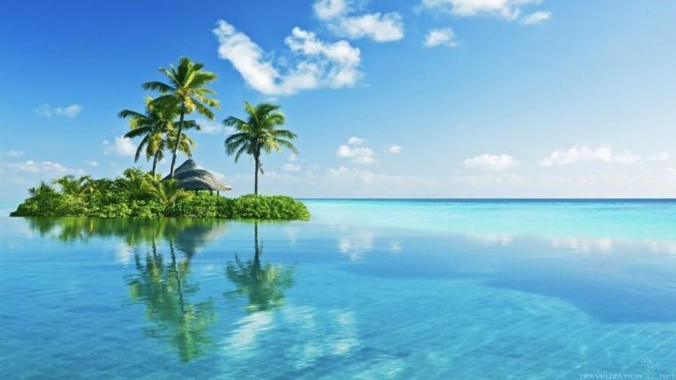 Tropikal Ada 1080p duvarkağıdı
