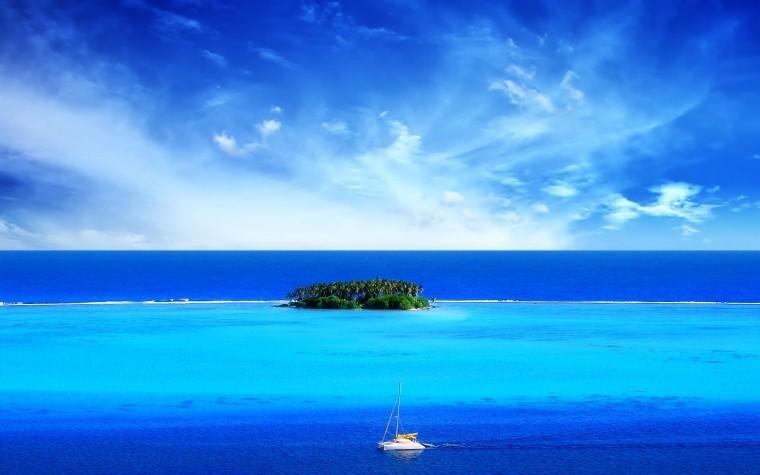 Tropikal Ada 4k duvarkağıdı