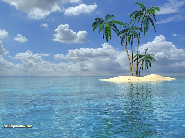 Tropikal Ada uhd duvarkağıdı