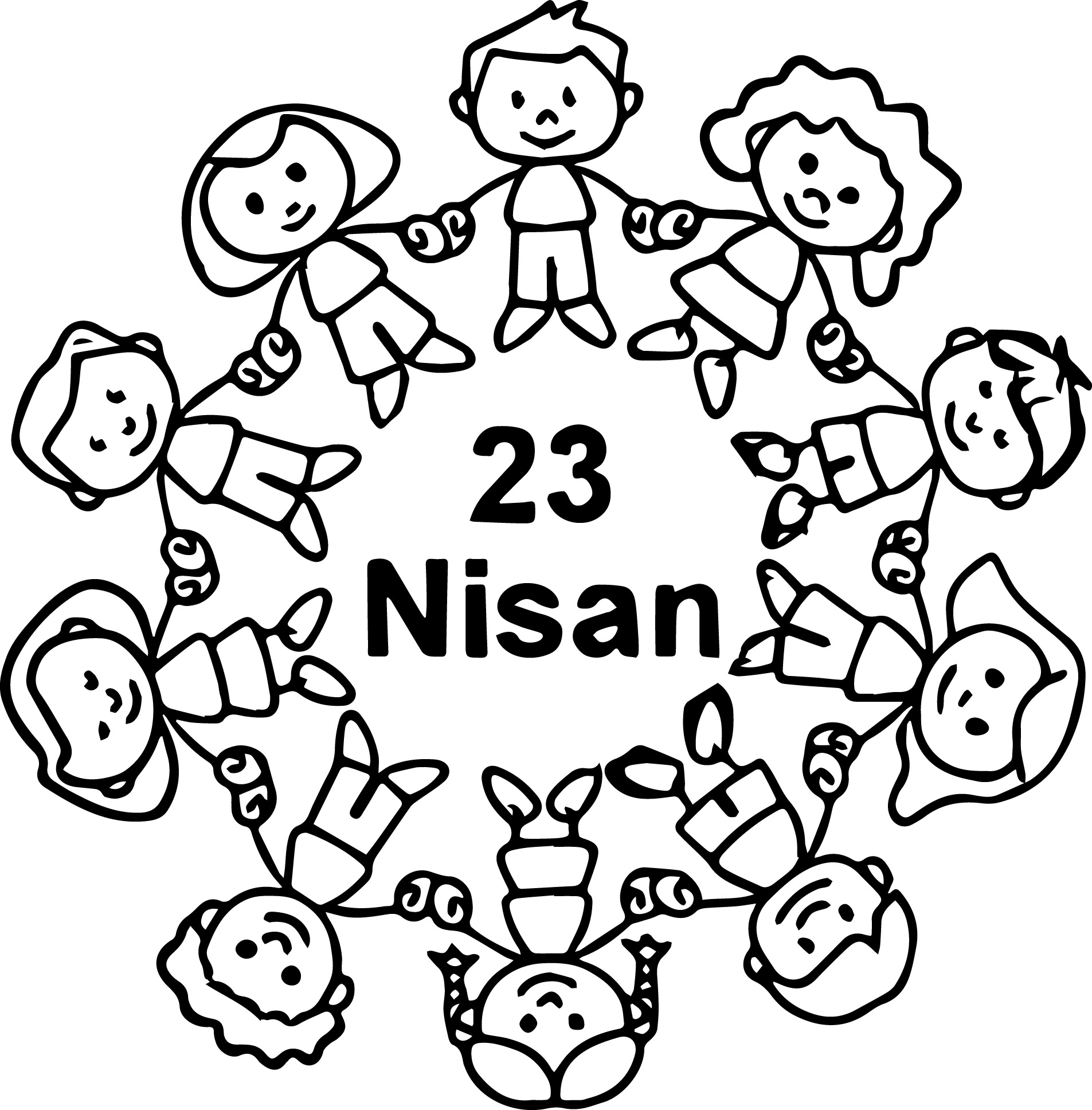 23 Nisan Etkinlik Boyama