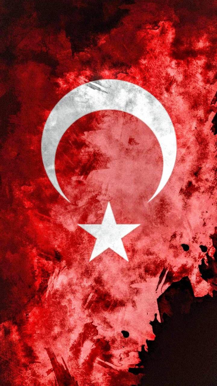 Türk Bayrağı Mobil Arka Plan Resim