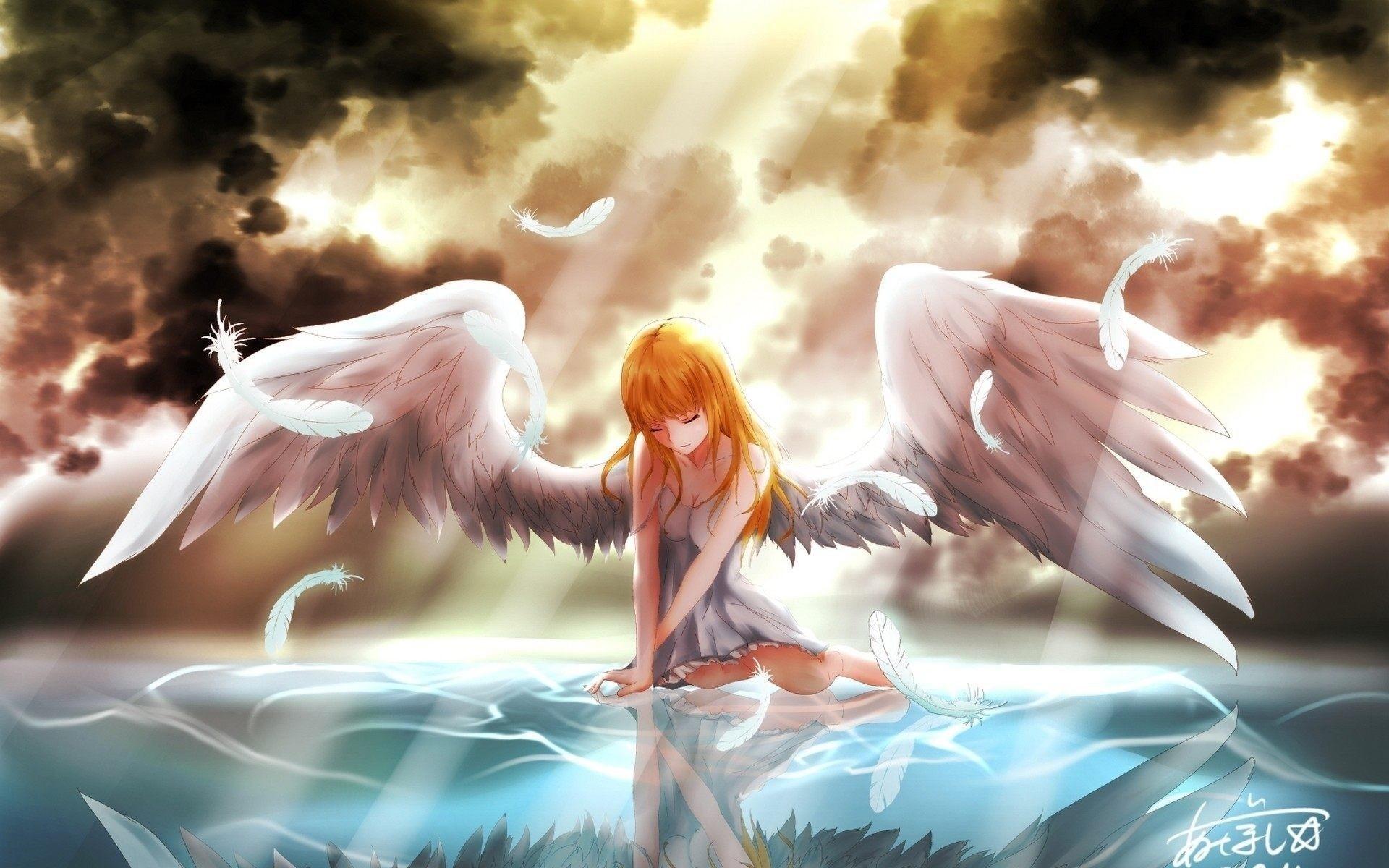 Angel Anime Girl Wallpaper