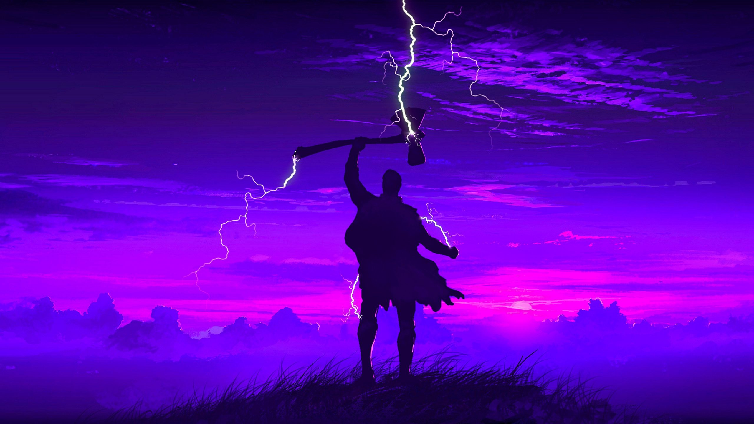 Thor Art 4K Wallpaper scaled